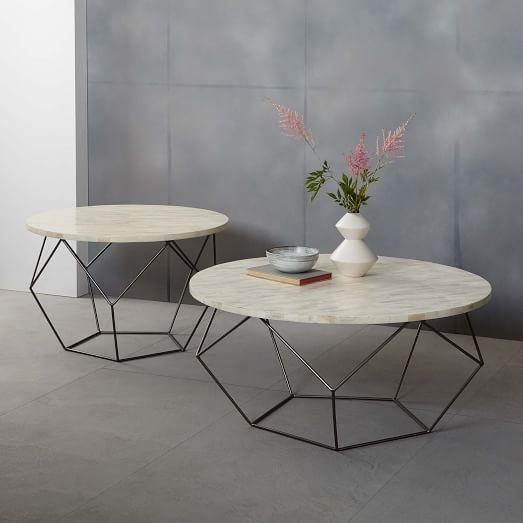 Stunning Well Known C Coffee Tables Intended For Origami Coffee Table Large West Elm (View 32 of 50)