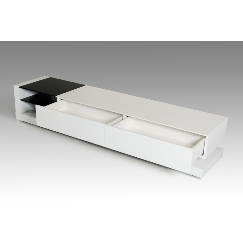Stunning Well Known Contemporary White TV Stands With Regard To Buy The Modrest Mali Modern White Tv Stand Vig Furniture (View 50 of 50)