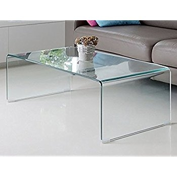 Stunning Well Known Curved Glass Coffee Tables With Regard To Amazon Charlize Glass Coffee Table Kitchen Dining (Image 42 of 50)