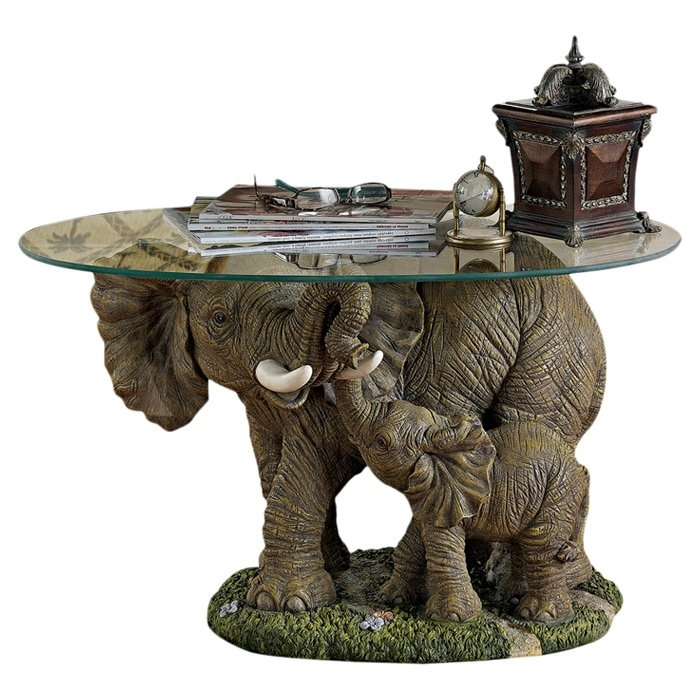 Stunning Wellknown Elephant Glass Top Coffee Tables Throughout Elephant Coffee Table (Image 44 of 50)