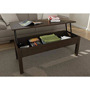 Stunning Wellknown Espresso Coffee Tables Pertaining To Amazon Mainstays Lift Top Coffee Table Color Espresso (View 12 of 50)