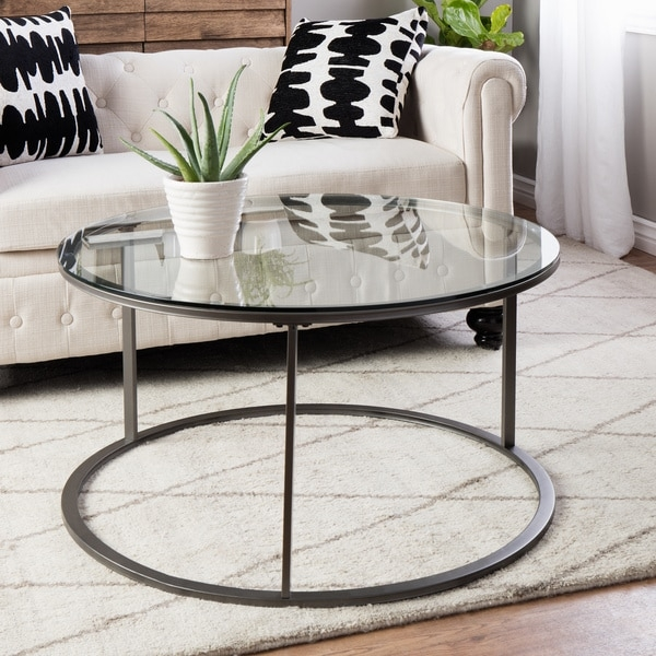 Stunning Wellknown Glass Circle Coffee Tables Within Creative Of Round Iron Coffee Table Round Metal Coffee Table With (Image 48 of 50)