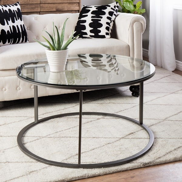 25 Inch Round Glass Coffee Table: Glass Lift Top Coffee Tables
