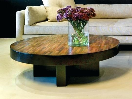 Stunning Wellknown Large Round Low Coffee Tables With Regard To Coffee Table Durham Bunching Tableswooden Circle Coffee Table (View 38 of 50)