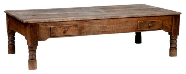 Stunning Well Known Large Rustic Coffee Tables Pertaining To Sold Out Large Dark Wood Hand Hewn Cocktail Table (View 18 of 50)