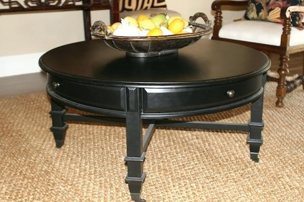 Stunning Well Known Round Coffee Tables With Drawers With Regard To Coffee Table Awesome Round Coffee Table With Drawer Storage (View 15 of 50)