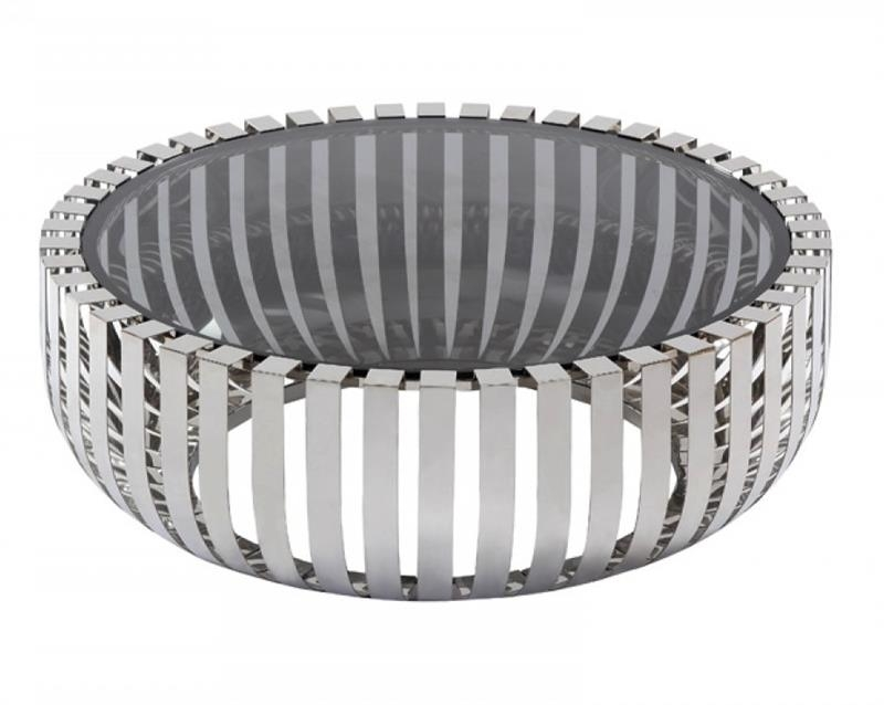 Stunning Well Known Round Steel Coffee Tables With Conch Round Coffee Table Stainless Steel Base Modern Coffee (Image 45 of 50)