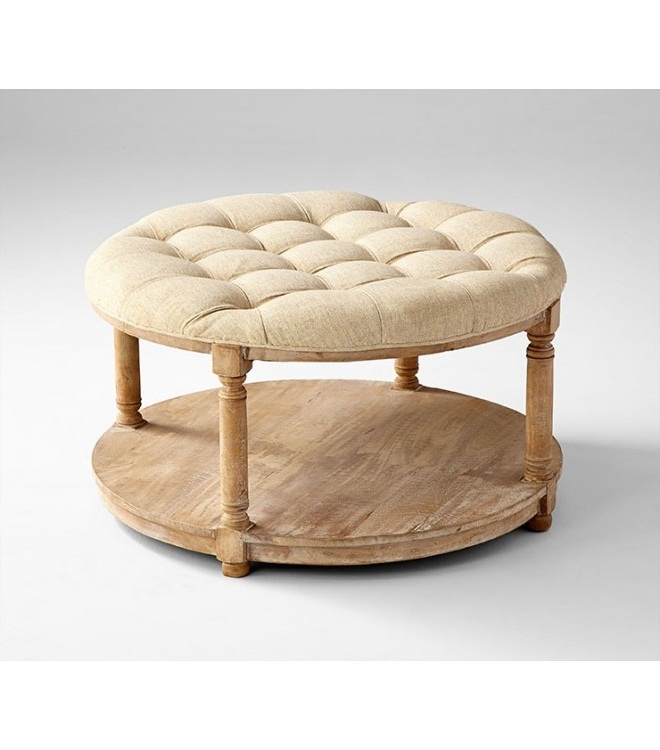 Stunning Wellknown Round Upholstered Coffee Tables Within French Country Round Coffee Table (Image 37 of 40)