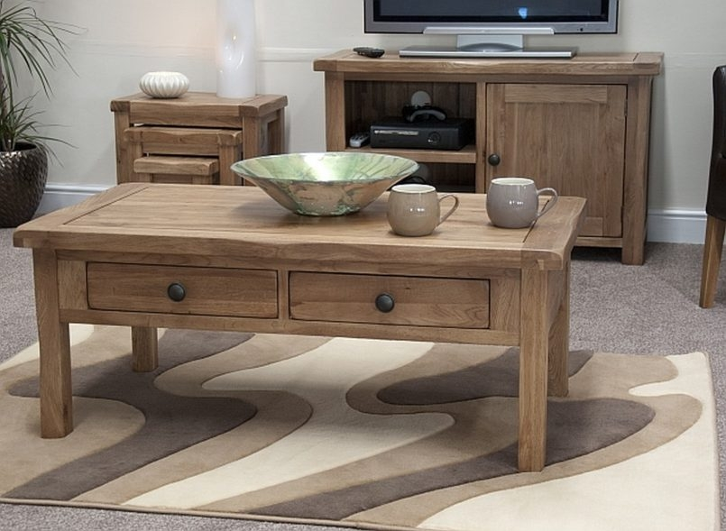 Stunning Wellknown Rustic Coffee Table Drawers Pertaining To Small Rustic Coffee Table Small Rustic Oak Coffee Table With (View 47 of 50)