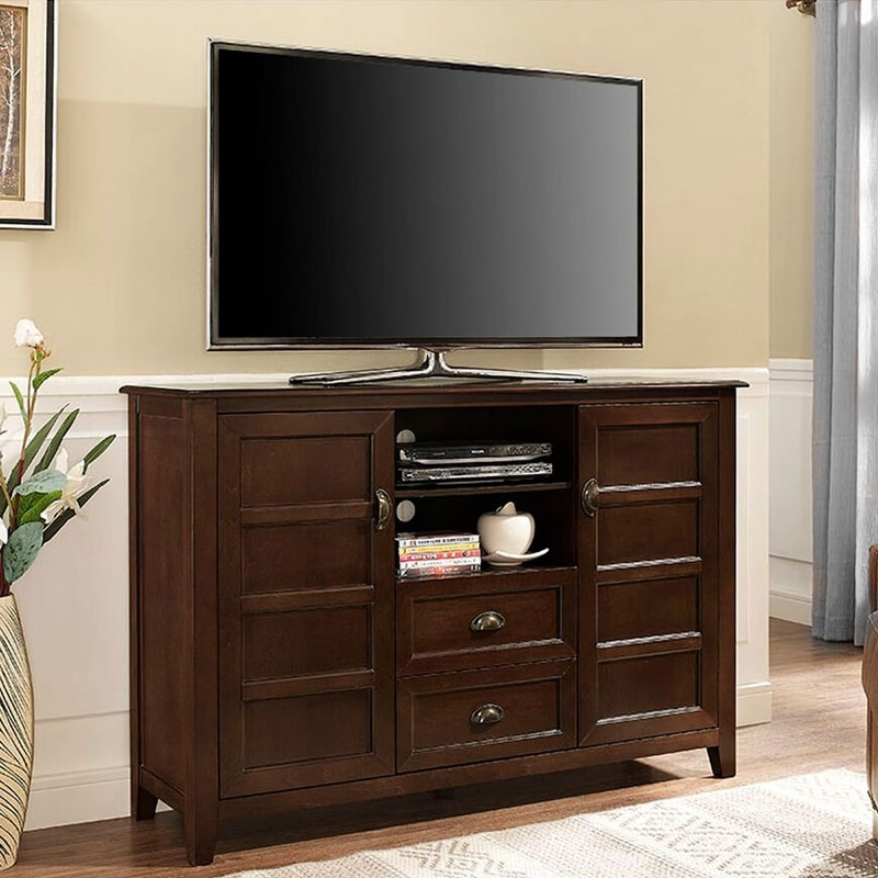 Stunning Wellknown Rustic TV Cabinets Intended For Walker Edison Ah52crccf Angelo Home 52 Inch Rustic Chic Tv Cabinet (Image 46 of 50)