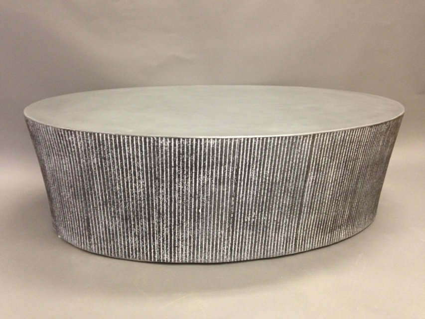 Stunning Well Known Silver Drum Coffee Tables Inside Tables Bases Stools Creative Concrete Furniture Fabrication And (Image 46 of 50)