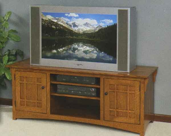 Stunning Well Known Solid Oak TV Stands Throughout Lagrange Tv Cabinet Clear Creek Amish Furniture Waynesville (View 15 of 50)