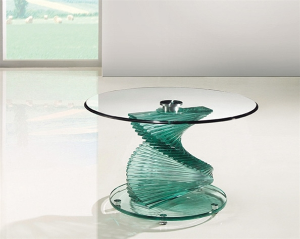 Stunning Wellknown Spiral Glass Coffee Table Inside Twirl Glass Lamp Table Portofino Glass Lamp Table (View 38 of 50)