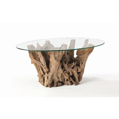 Stunning Wellknown Wayfair Glass Coffee Tables With Regard To Driftwood Oval Coffee Table (Image 38 of 40)