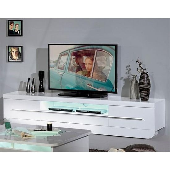 Featured Image of White High Gloss TV Stands Unit Cabinet