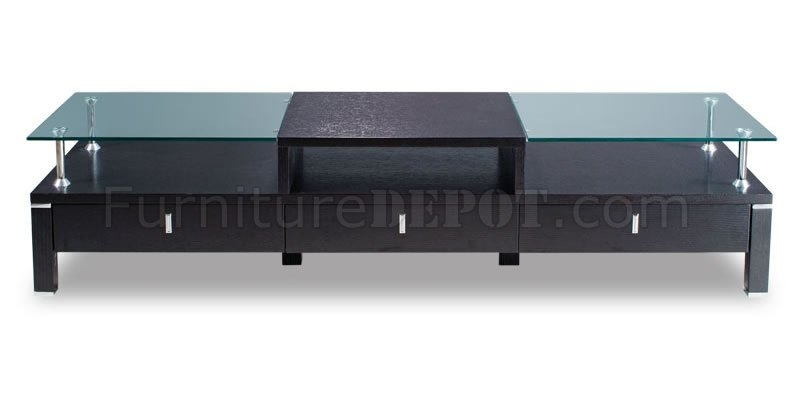 Stunning Wellknown Wood TV Stands With Glass Top Throughout Wenge Color Contemporary Tv Stand With Glass Top (Image 46 of 50)