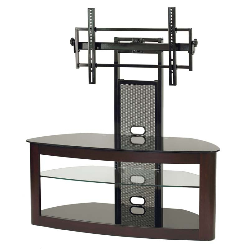 Stunning Wellliked 40 Inch Corner TV Stands Throughout Transdeco Glass Tv Stand With Mounting System For 35 65 Inch (Image 47 of 50)