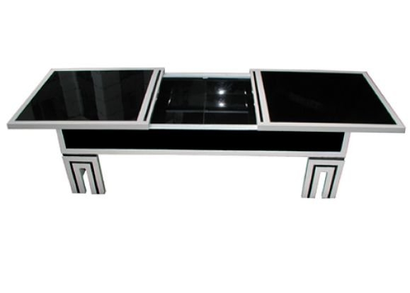 Stunning Wellliked Black Glass Coffee Tables Within James Mont Black Glass Coffee Table For Sale At 1stdibs (Image 47 of 50)