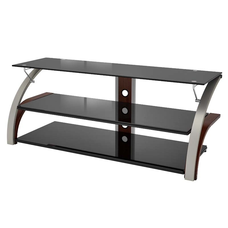 Stunning Wellliked Black Glass TV Stands For Z Line Designs Elecktra 55 Inch Tv Stand With Black Glass Chrome (Image 46 of 50)
