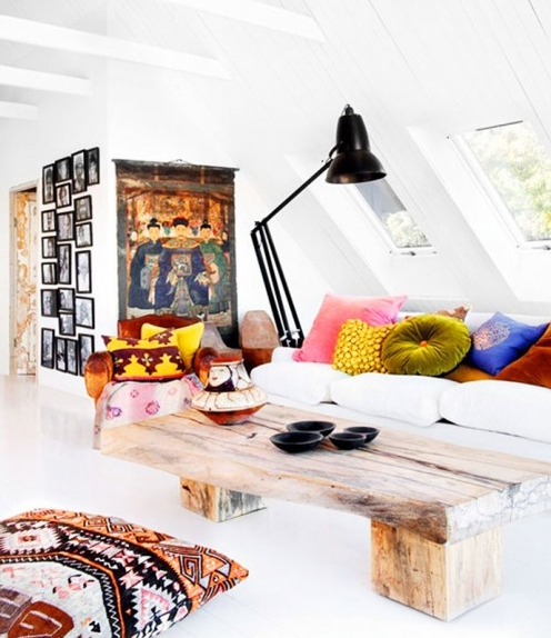 Stunning Wellliked Boho Coffee Tables For 18 Boho Chic Living Room Decorating Ideas Decoholic (View 50 of 50)