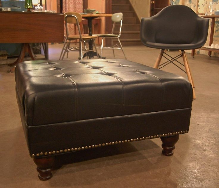 Stunning Wellliked Brown Leather Ottoman Coffee Tables Pertaining To Best 25 Large Leather Ottoman Ideas On Pinterest Tufted Leather (Image 42 of 50)