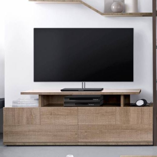Stunning Wellliked Contemporary TV Cabinets Intended For Contemporary Tv Cabinet Hi Fi Oak Brem Gautier (Image 49 of 50)