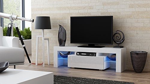 Stunning Wellliked Milano TV Stands Regarding Amazon Tv Stand Milano 130 Modern Led Tv Cabinet Living (Image 44 of 50)