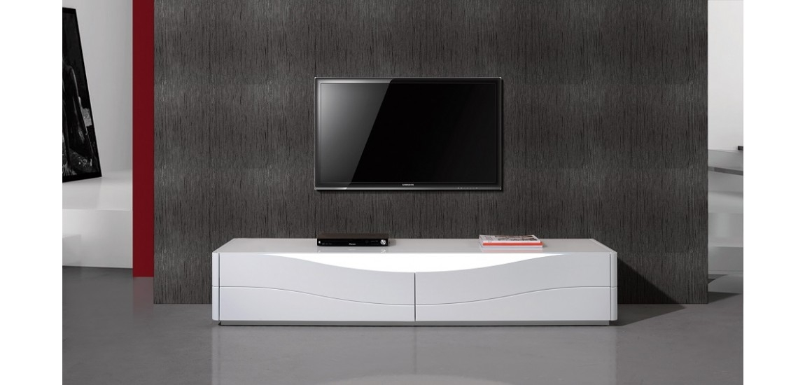 Stunning Wellliked Modern White Lacquer TV Stands With Regard To Zao Contemporary Tv Stand In White Lacquer Finish Jm (Image 45 of 50)