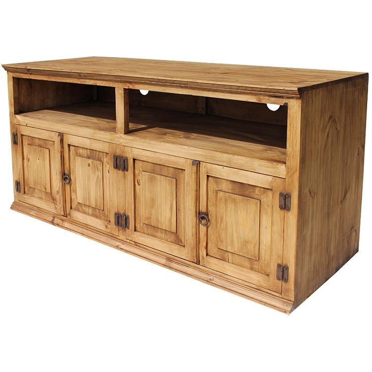 Stunning Wellliked Rustic TV Stands Intended For Rustic Pine Collection Santana Tv Stand Com (Image 49 of 50)