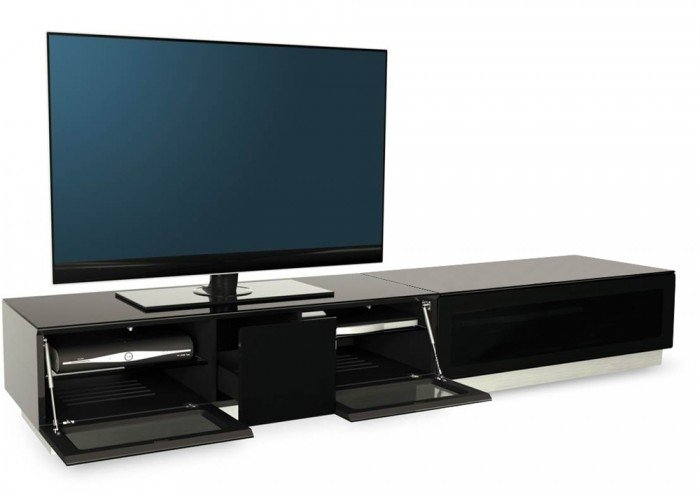 Stunning Wellliked Shiny Black TV Stands Within Bedroom Awesome Spectral Cocoon Co1001 Gloss Black Tv Cabinet W (Image 48 of 50)