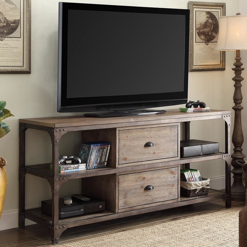 Stunning Wellliked Walnut TV Stands For Flat Screens Within 60 69 Inch Tv Stands Youll Love Wayfair (Image 44 of 50)