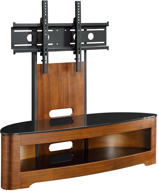 Stunning Wellliked Wood TV Stands With Glass Top In Jual Cantilever Modern Tv Stand Glass Top With Shelf Walnut Or (Image 47 of 50)