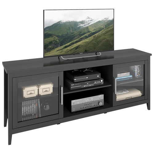 Stunning Widely Used Black TV Stands For Corliving Jackson 80 Tv Stand Black Tv Stands Best Buy Canada (Image 40 of 50)