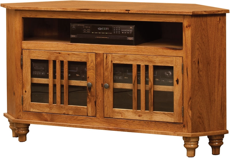 Stunning Widely Used Corner Wooden TV Cabinets Regarding Harvest Corner Tv Cabinet Indiana Amish Tv Cabinet Custom Wood (View 5 of 50)