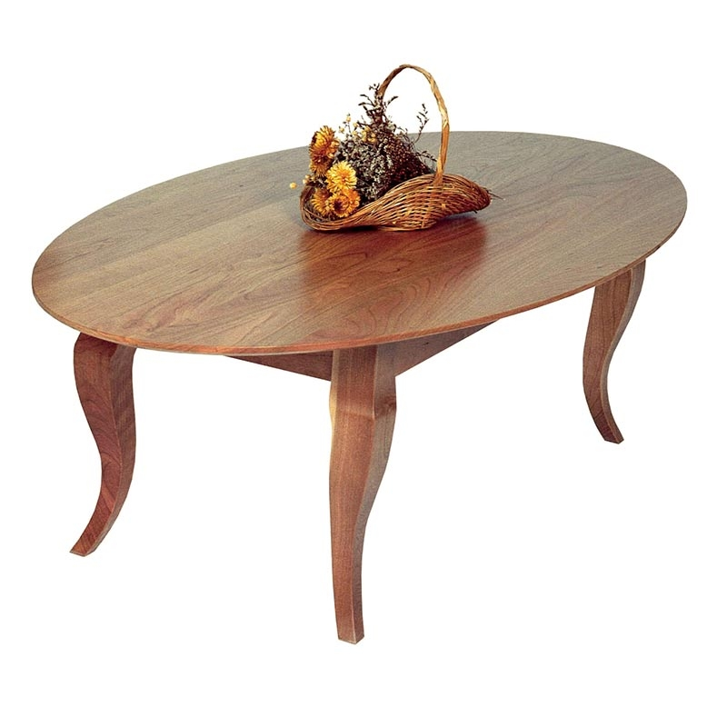 Stunning Widely Used Country Coffee Tables Within French Country Oval Coffee Table Vermont Woods Studios (View 42 of 50)