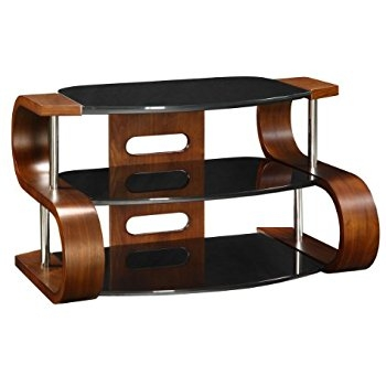 Stunning Widely Used Curve TV Stands In Jual Curve Curved Walnut Black 50 Inch Tv Stand Amazoncouk (View 35 of 50)