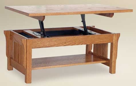 Stunning Widely Used Lift Top Oak Coffee Tables With Regard To 33 Off Landmark Lift Top Coffee Table In Oak Solid Wood Amish (Image 37 of 40)