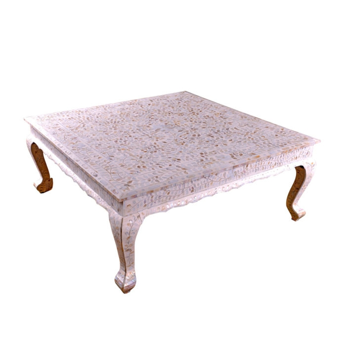 Stunning Widely Used Mother Of Pearl Coffee Tables For White Mother Of Pearl Coffee Table Art Of Old India (View 2 of 50)