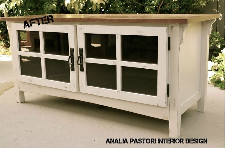 Stunning Widely Used Rustic White TV Stands Inside Distressed Antique White Tv Stand Analia Pastori Interior (View 18 of 50)