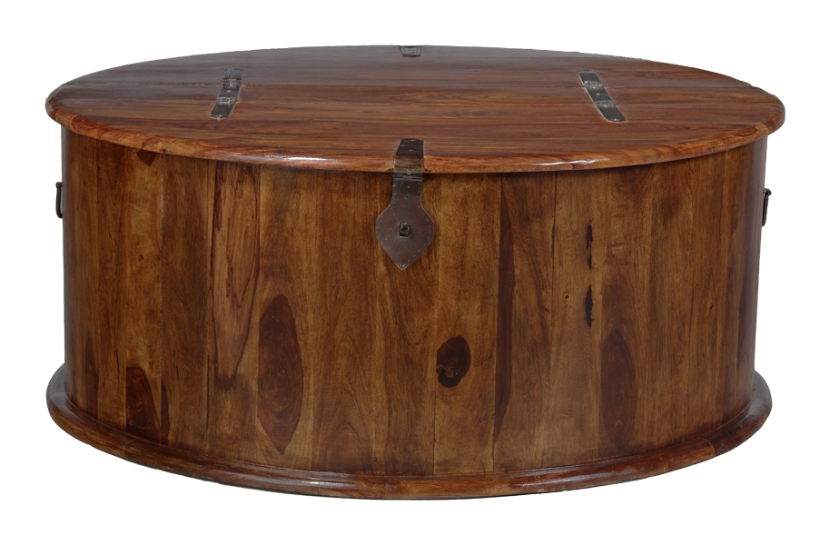 Stunning Widely Used Sheesham Coffee Tables Within Jali Round Trunk Coffee Table Trade Furniture Company (View 34 of 50)