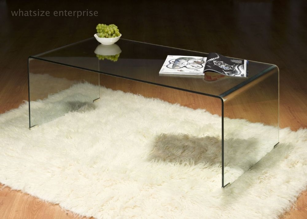 Stunning Widely Used Transparent Glass Coffee Tables Within Clear Glass Furniture (Image 46 of 50)