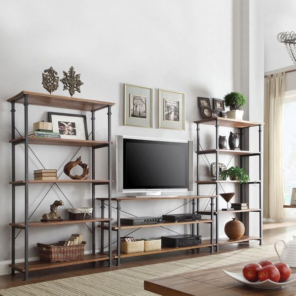 Stunning Widely Used TV Stands With Bookcases Regarding 25 Best Rustic Tv Stands Ideas On Pinterest Tv Stand Decor (Image 45 of 50)