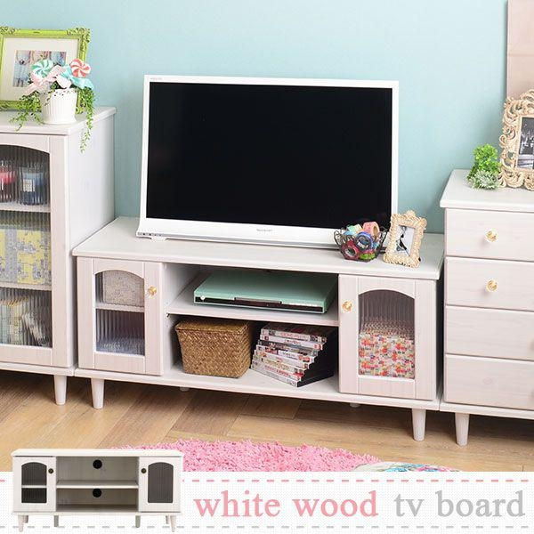 Stunning Widely Used White And Wood TV Stands Intended For Atom Style Rakuten Global Market Tv Stand Lowboard White White (Image 45 of 50)