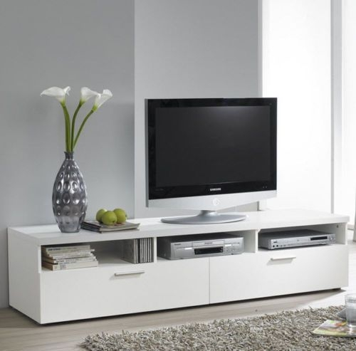 Stunning Widely Used White Contemporary TV Stands Pertaining To Best 25 White Tv Stands Ideas On Pinterest Tv Stand Furniture (Image 49 of 50)