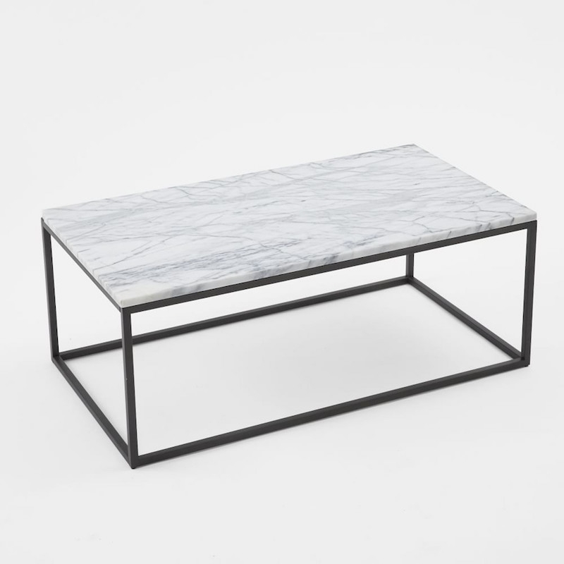 Stunning Widely Used White Marble Coffee Tables Pertaining To Marble Coffee Tables For Every Budget The Everygirl (Image 48 of 50)