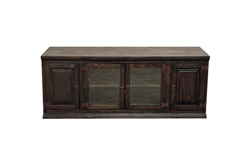 Stunning Widely Used Wooden TV Stands With Doors Pertaining To Dark 60 Tv Stand With Glass Doors Flat Screen Console Rustic (Image 48 of 50)