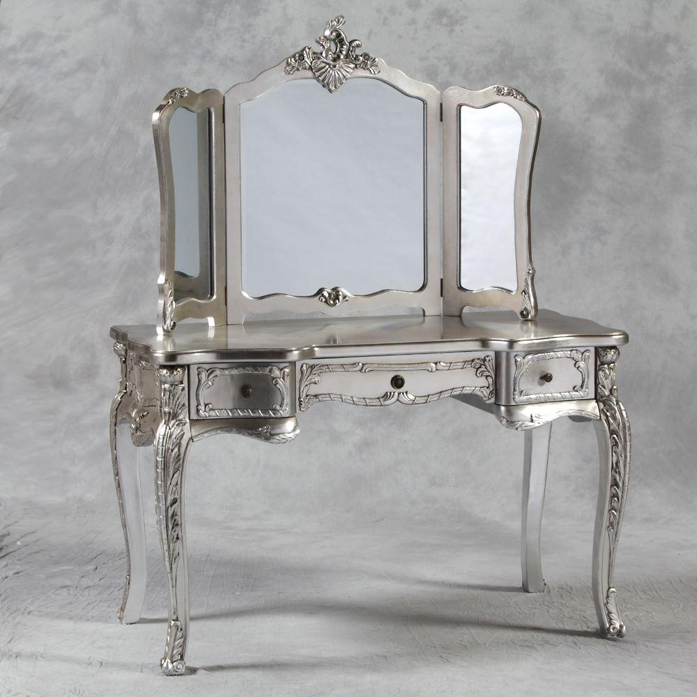 Style Dressing Table With Mirror In Cream Within Dressing Table Mirror (Image 16 of 20)