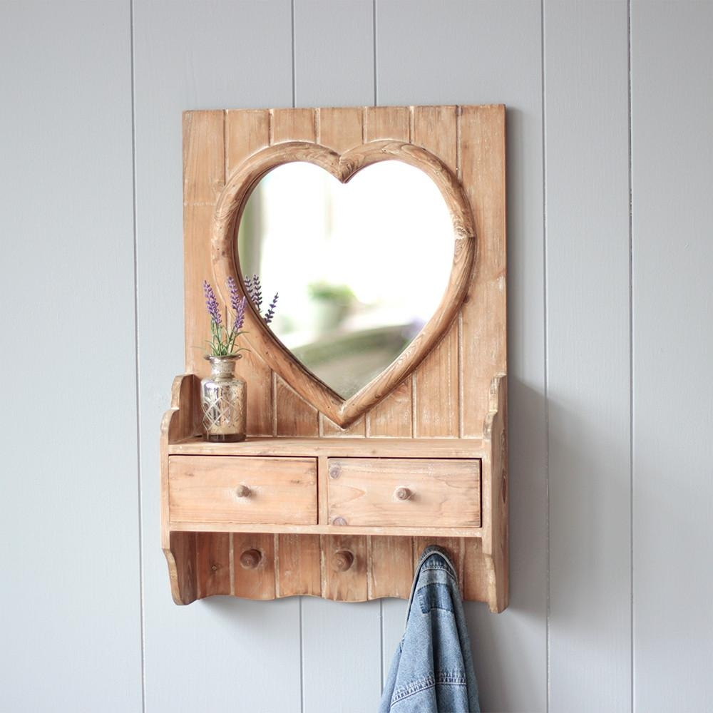 Stylish Mirrors, Feature Wall Mirrors And Vintage Style Compact In Heart Shaped Mirror For Wall (View 20 of 20)