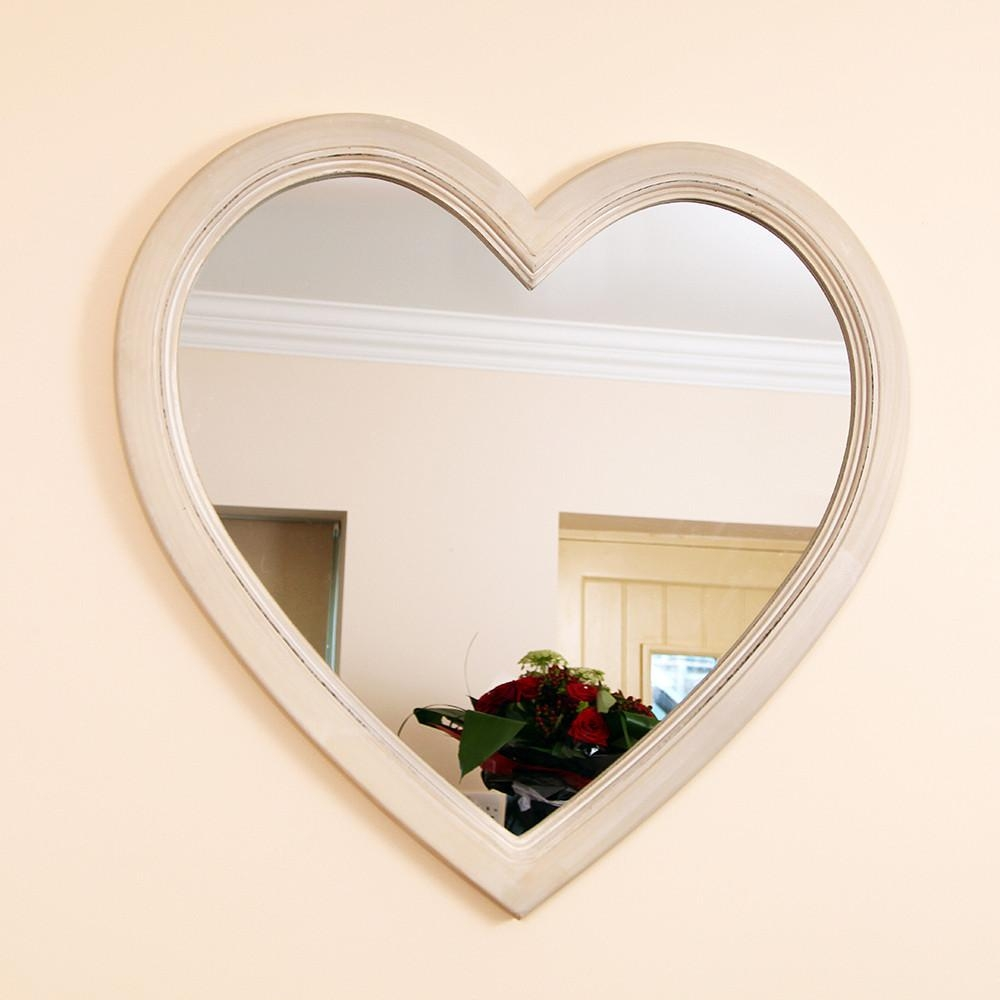 Stylish Mirrors, Feature Wall Mirrors And Vintage Style Compact Within Heart Shaped Mirror For Wall (Image 17 of 20)