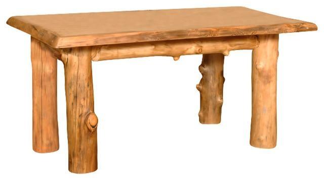 Summit Peak Aspen Log Four Leg Dining Table – Dining Tables – Regarding Aspen Dining Tables (View 13 of 20)